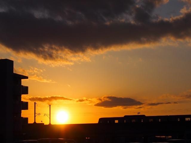 TXと夕日